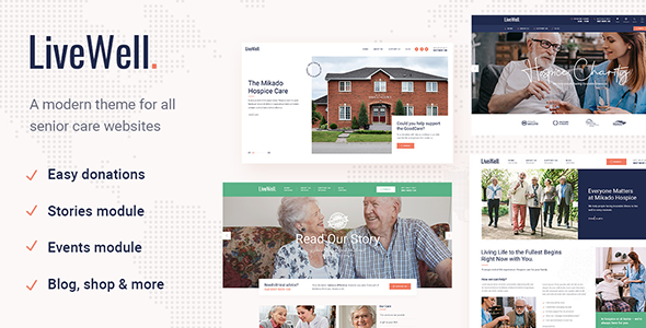 Wordpress Immobilien Template LiveWell - Senior Care Theme