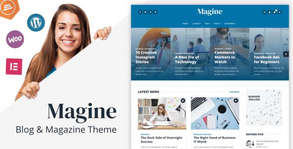 Wordpress Blog Template Magine - Business Blog WordPress Theme