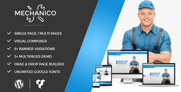 Wordpress Corporate Template Mechanico - Car Mechanic Shop WordPress Theme