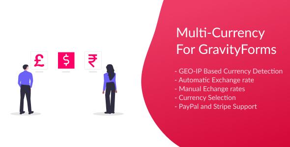 Wordpress Formular Plugin Multi-Currency for Gravity Forms