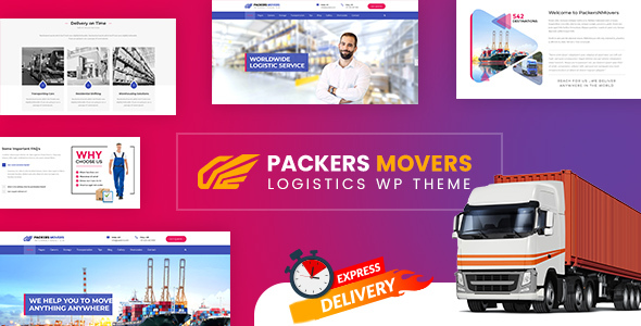 Wordpress Immobilien Template Packers & Movers | Logistics WordPress