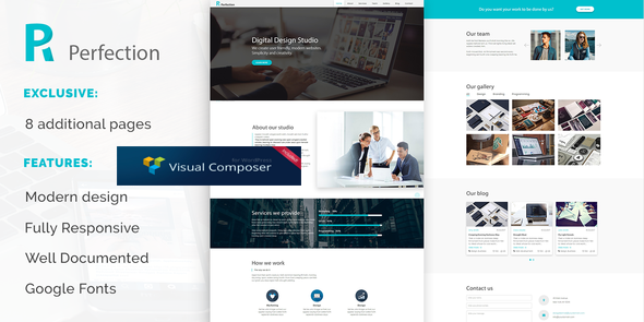 Wordpress Immobilien Template Perfection - Business Multipurpose WordPress Theme