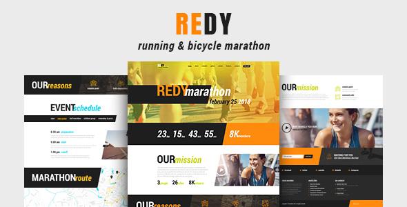 Wordpress Immobilien Template Redy   Marathon & Running Sports WordPress Theme