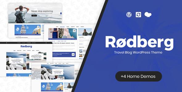 Wordpress Blog Template Rodberg - Travel Blog WordPress Theme
