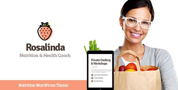 Wordpress Immobilien Template Rosalinda | Health Coach & Vegetarian Lifestyle Blog WordPress Theme