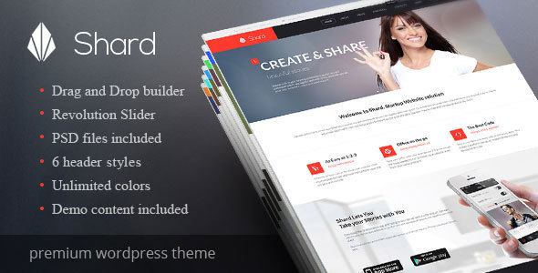 Wordpress Corporate Template Shard - Multipurpose Business Parallax WP Theme