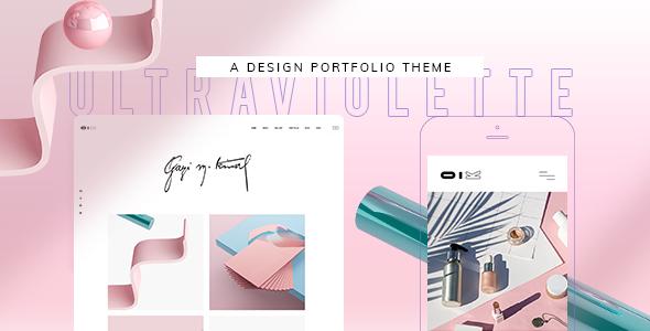 Wordpress Kreativ Template UltraViolette - Design Portfolio Theme