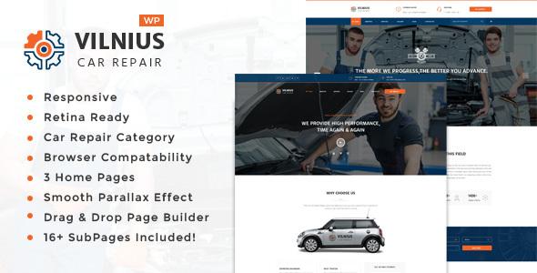 Wordpress Immobilien Template Vilnius - Auto Mechanic Repair  WordPress Theme