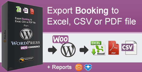 Wordpress E-Commerce Plugin WooCommerce Booking Export