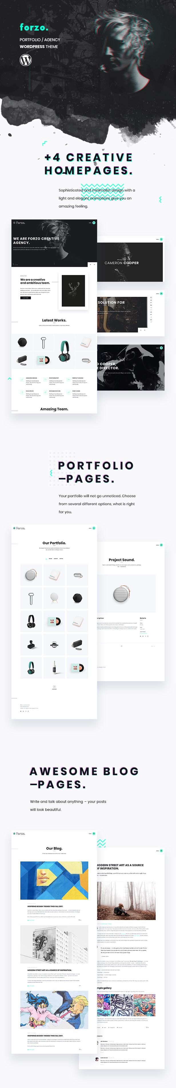 Forzo - Creative Portfolio Agency-Thema - 1