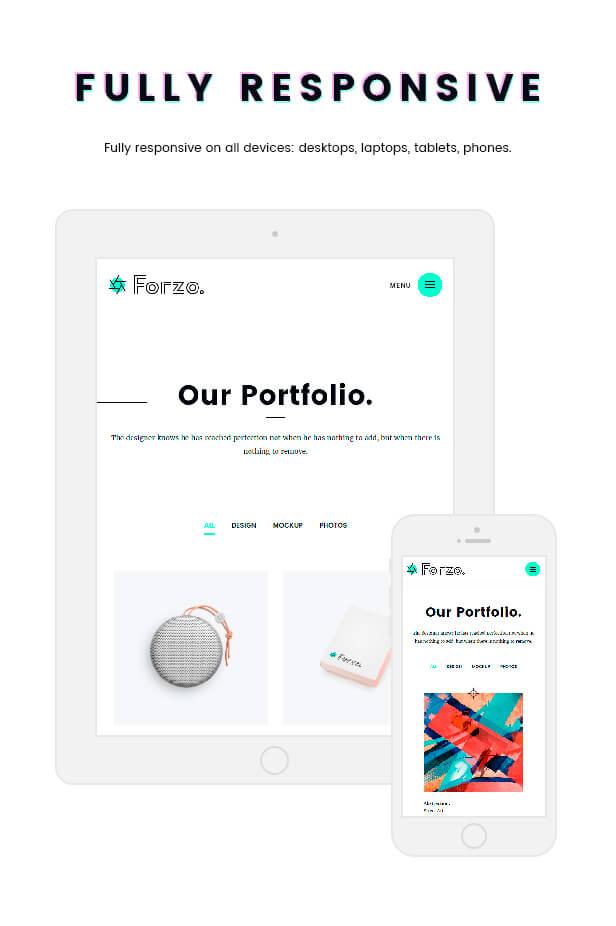 Forzo - Creative Portfolio Agency-Thema - 2