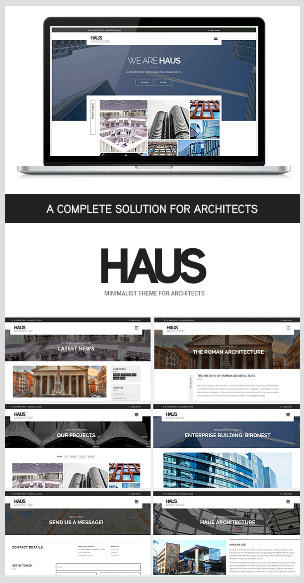 Haus - WordPress Architektur Thema für Architekten