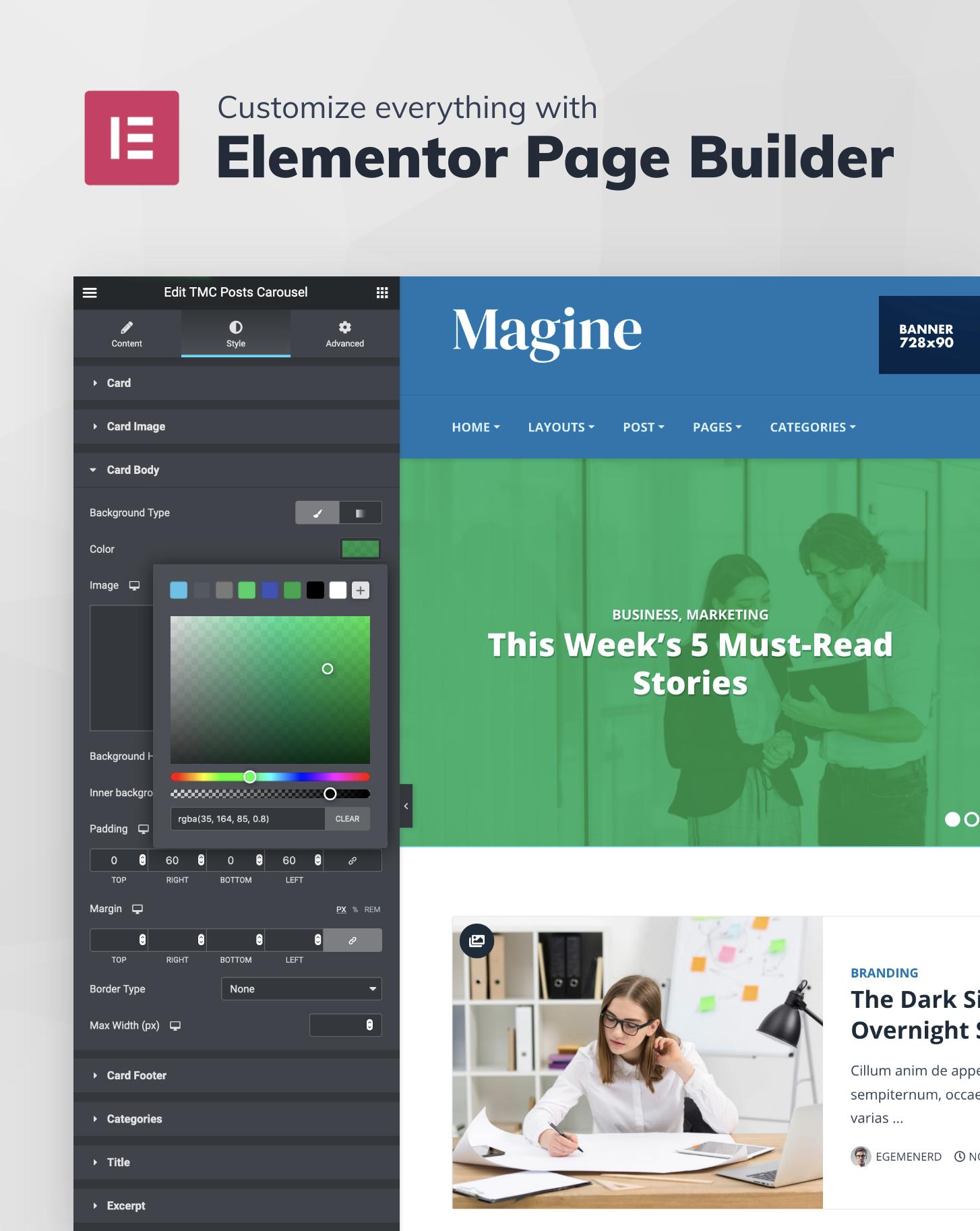 Magine - Business Blog WordPress Theme