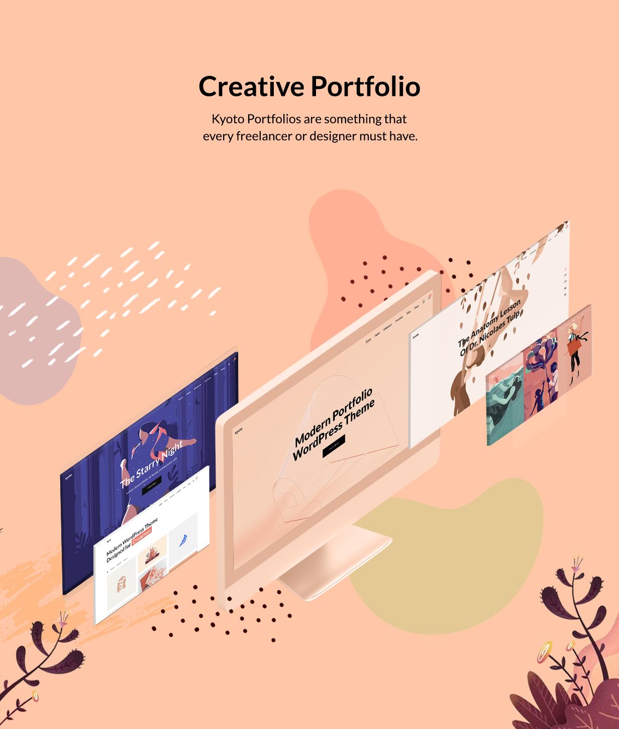 Kyoto - Innovatives Portfolio-Thema für Kreative
