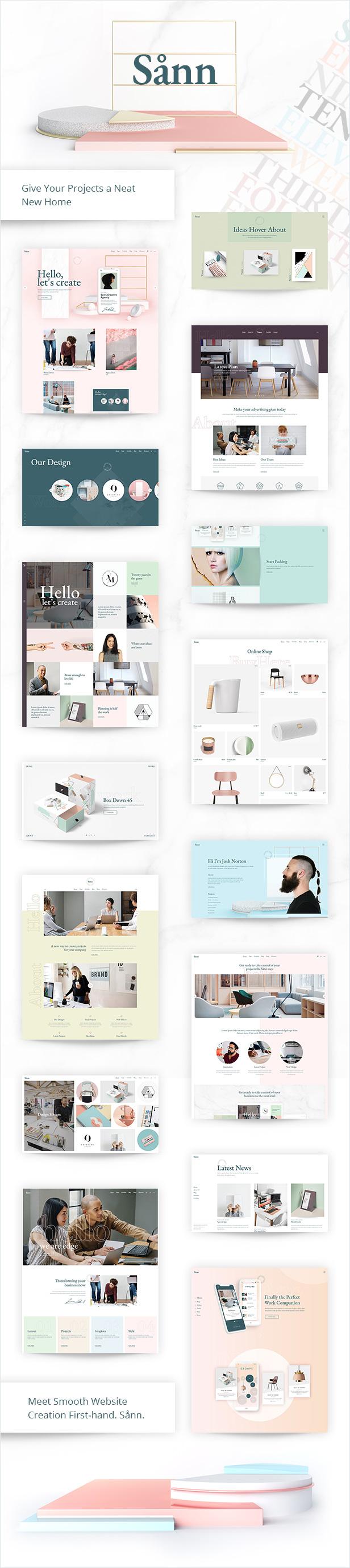 Sånn - Design Portfolio Theme - 1