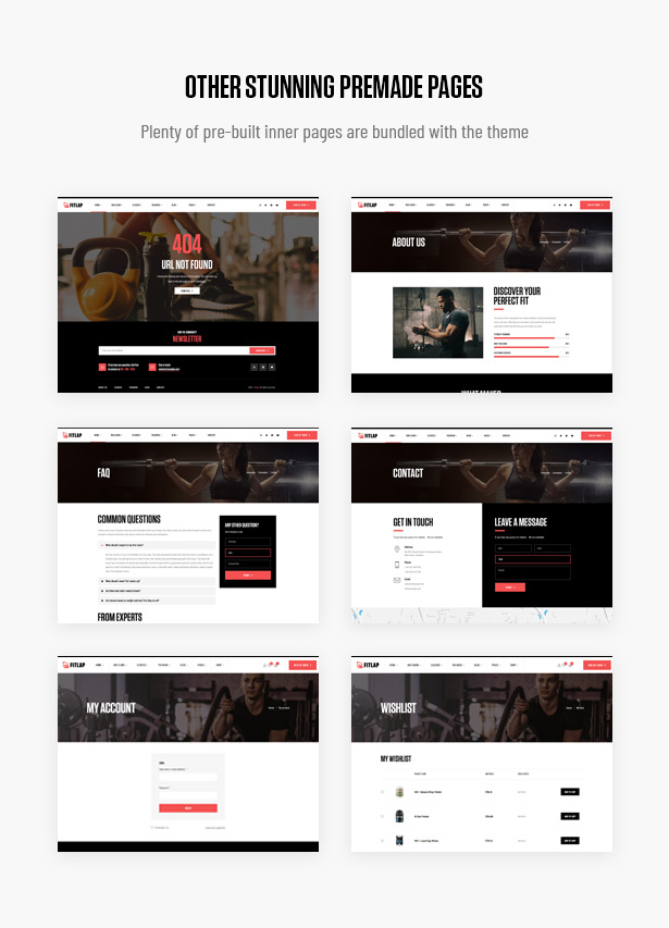 Fitlap - Gym & Fitness Club WordPress Theme
