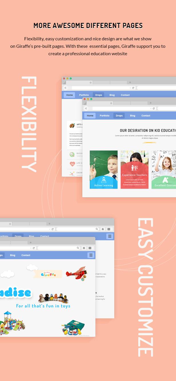 Giraffe - Kindergartenerziehung WordPress Theme - 6