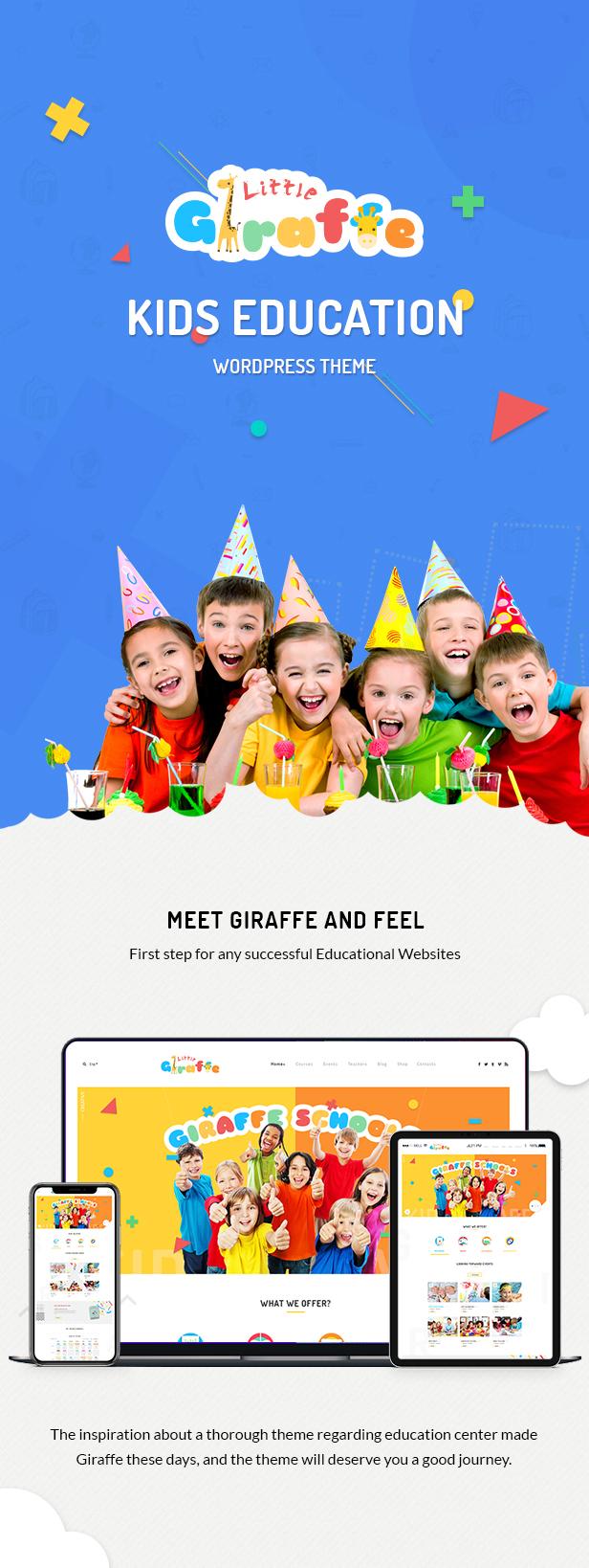 Giraffe - Kindergartenerziehung WordPress Theme - 1