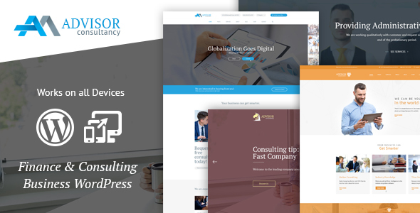 Wordpress Corporate Template Advisor Consulting, Business, Finance WordPress Theme