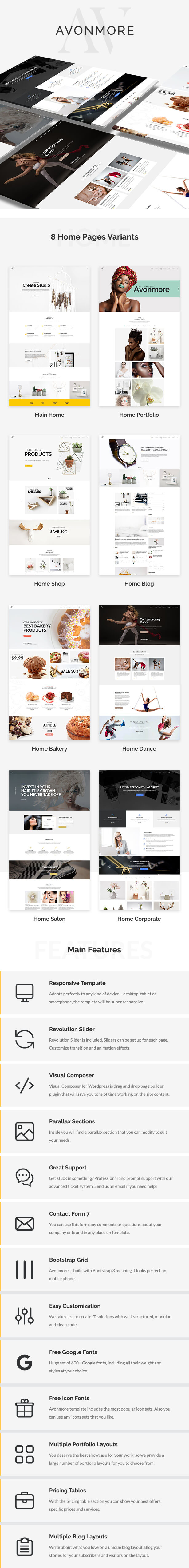 Kreatives Mehrzweck-WordPress-Theme - Avonmore - 2