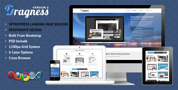 Wordpress Corporate Template Dragness - Premium WordPress Landing Page