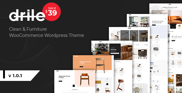 Wordpress Shop Template Drile - Furniture WooCommerce WordPress Theme
