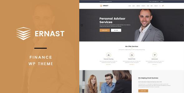 Wordpress Corporate Template Ernast - Business & Finance Theme
