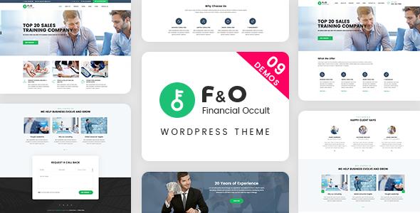 Wordpress Immobilien Template F&O - Consultant Finance WordPress Theme