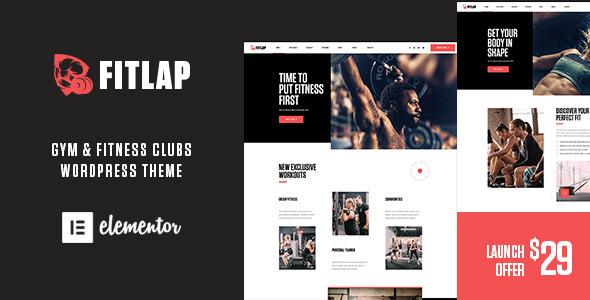 Wordpress Immobilien Template Fitlap - Gym & Fitness Club WordPress Theme