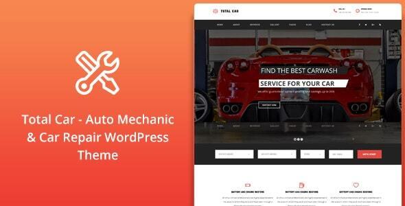 Wordpress Immobilien Template Total Car    Auto Mechanic & Car Repair WordPress Theme