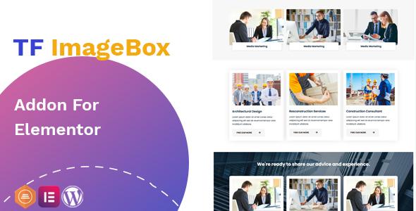 Wordpress Add-On Plugin Image Box addon - widget for Elementor