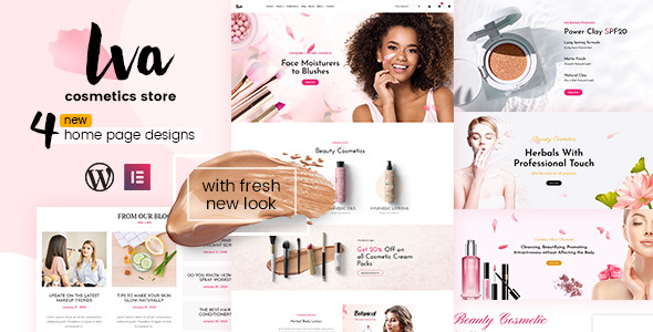 Wordpress Shop Template Iva - Beauty Store, Cosmetics Shop