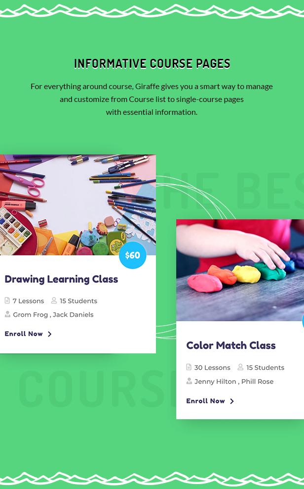 Giraffe - Kindergartenerziehung WordPress Theme - 3