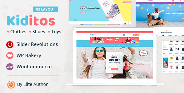 Wordpress Shop Template Kiditos - Baby and Kids Multi Store WooCommerce Theme