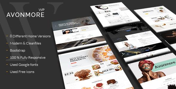 Wordpress Kreativ Template Creative Multipurpose WordPress Theme -  Avonmore