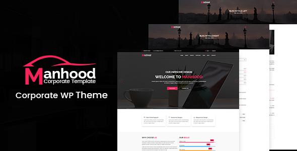 Wordpress Immobilien Template Manhood - Corporate WordPress Theme