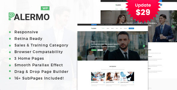 Wordpress Immobilien Template Palermo - Business Consulting and Professional Services WordPress Theme