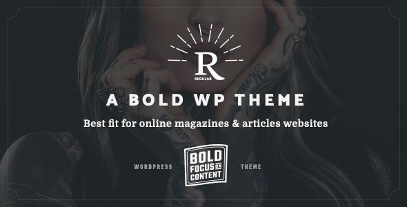 Wordpress Blog Template Regular - Writing, Content, Blog & Magazine Theme for WordPress