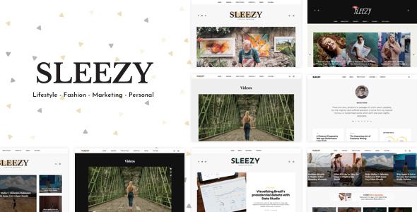 Wordpress Blog Template Sleezy Lifestyle - Marketing WordPress Theme