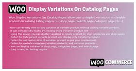 WooCommerce-Anzeigevariationen auf Katalogseiten