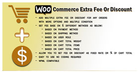WooCommerce Extra Gebühr oder Rabatt