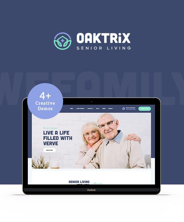OakTrix - Senior Care WordPress-Theme