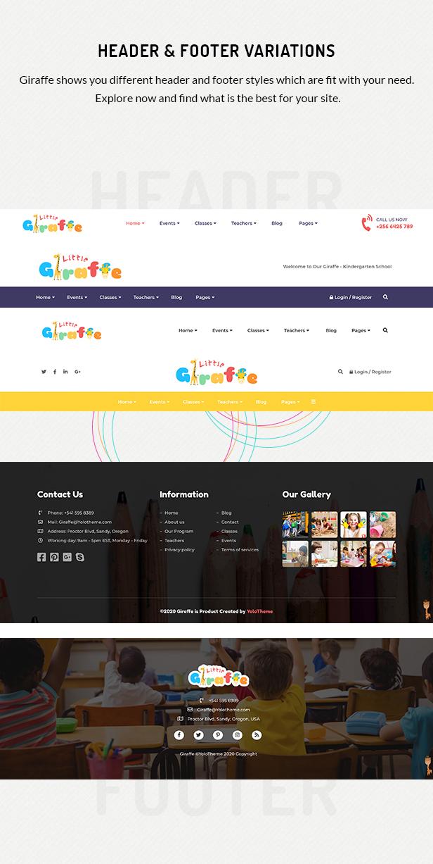Giraffe - Kindergartenerziehung WordPress Theme - 5