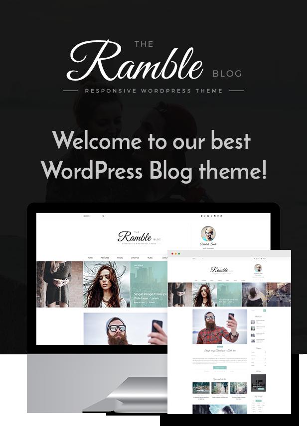 Ramble - Mehrzweck-WordPress-Theme für Blogs, Magazine und Woo-Commerce - 1