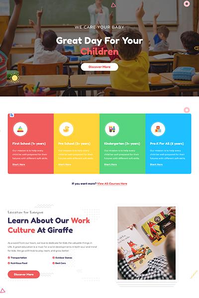 Giraffe - Kindergarten WordPress Theme