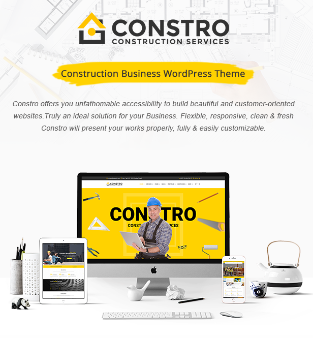 Constro - Baugeschäft WordPress Theme - 2
