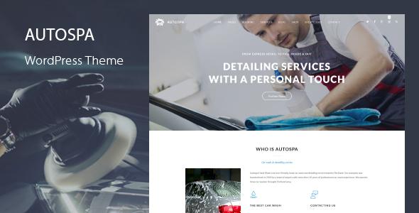 Wordpress Immobilien Template Auto Spa - Car Wash Booking WordPress Theme
