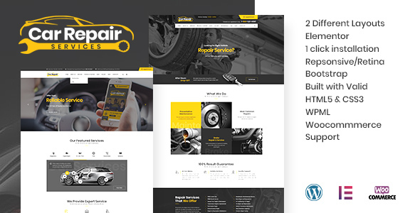 Wordpress Immobilien Template Car Repair Services & Auto Mechanic WordPress Theme + RTL