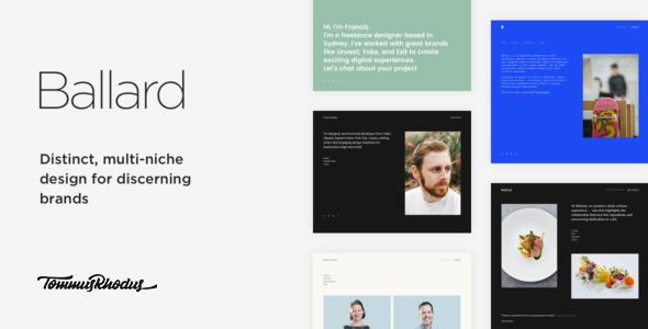 Wordpress Kreativ Template Ballard - Responsive CV WordPress Theme