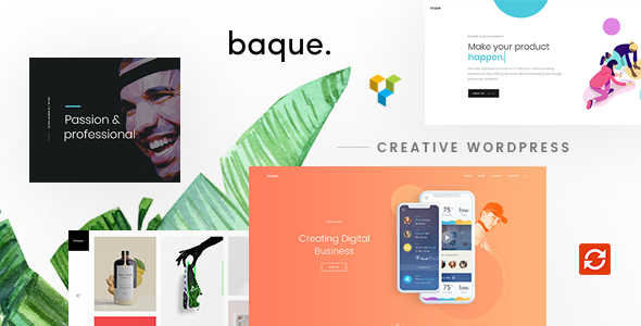 Wordpress Kreativ Template Baque - Multipurpose Onepage Creative WP Theme